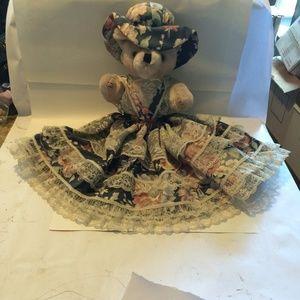 Gorgeous Vintage Elegant Teddy Bear, Home Decor